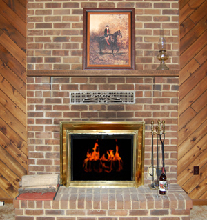 Fireplace: berkley springs cabins Rental