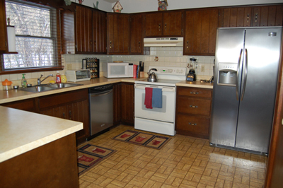 Kitchen: Berkeley Springs Cabin Rental