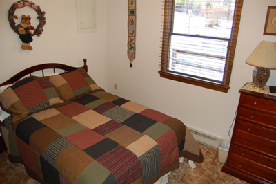 Full bed third bedroom:Berkeley Springs Cabin Rental